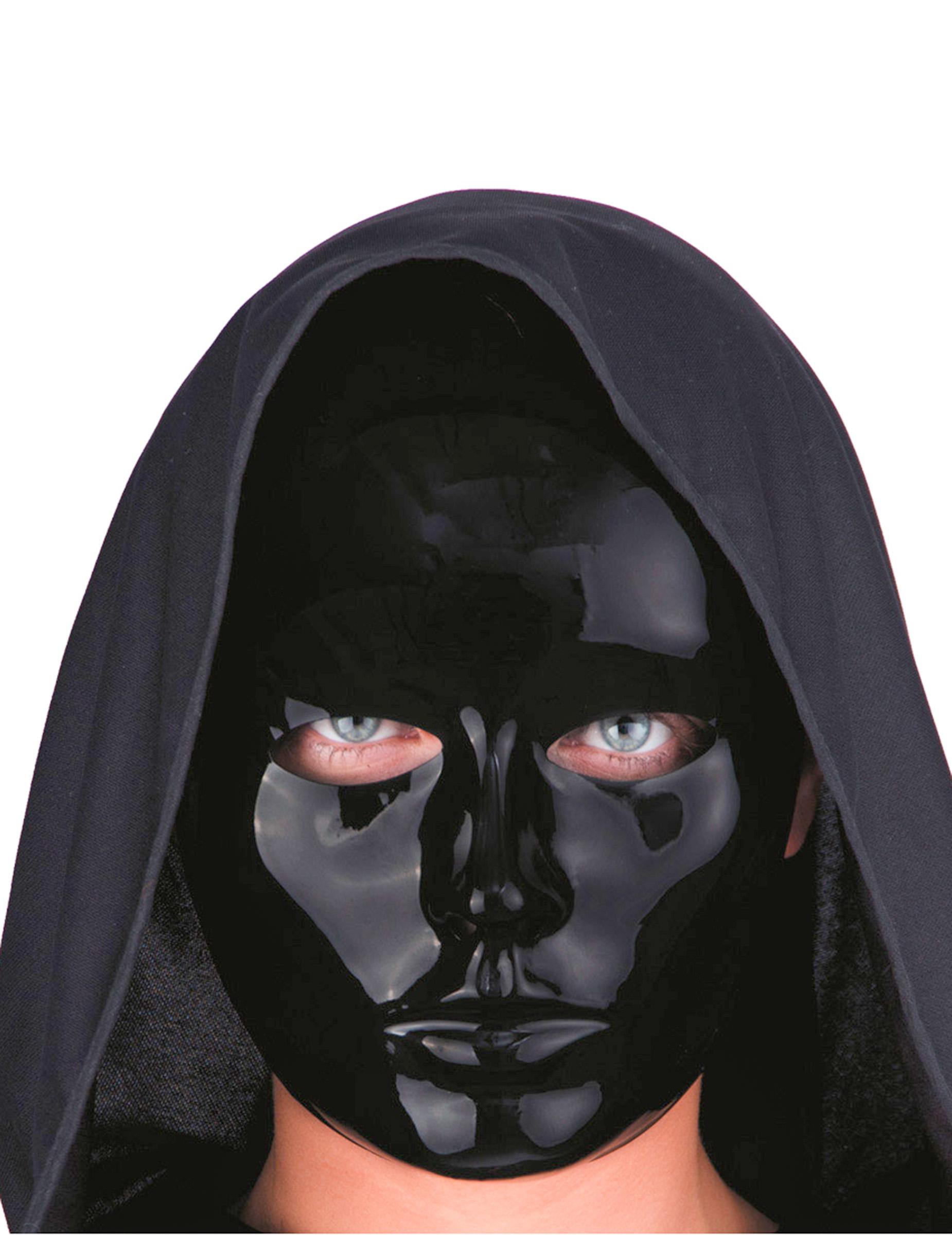 Maschera Viso Nero Da Adulto Maschere E Vestiti Di