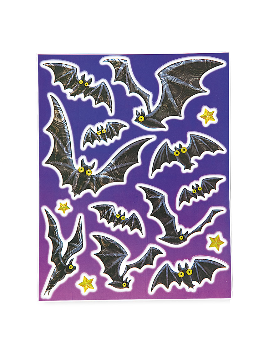 decorazioni finestra pipistrelli halloween