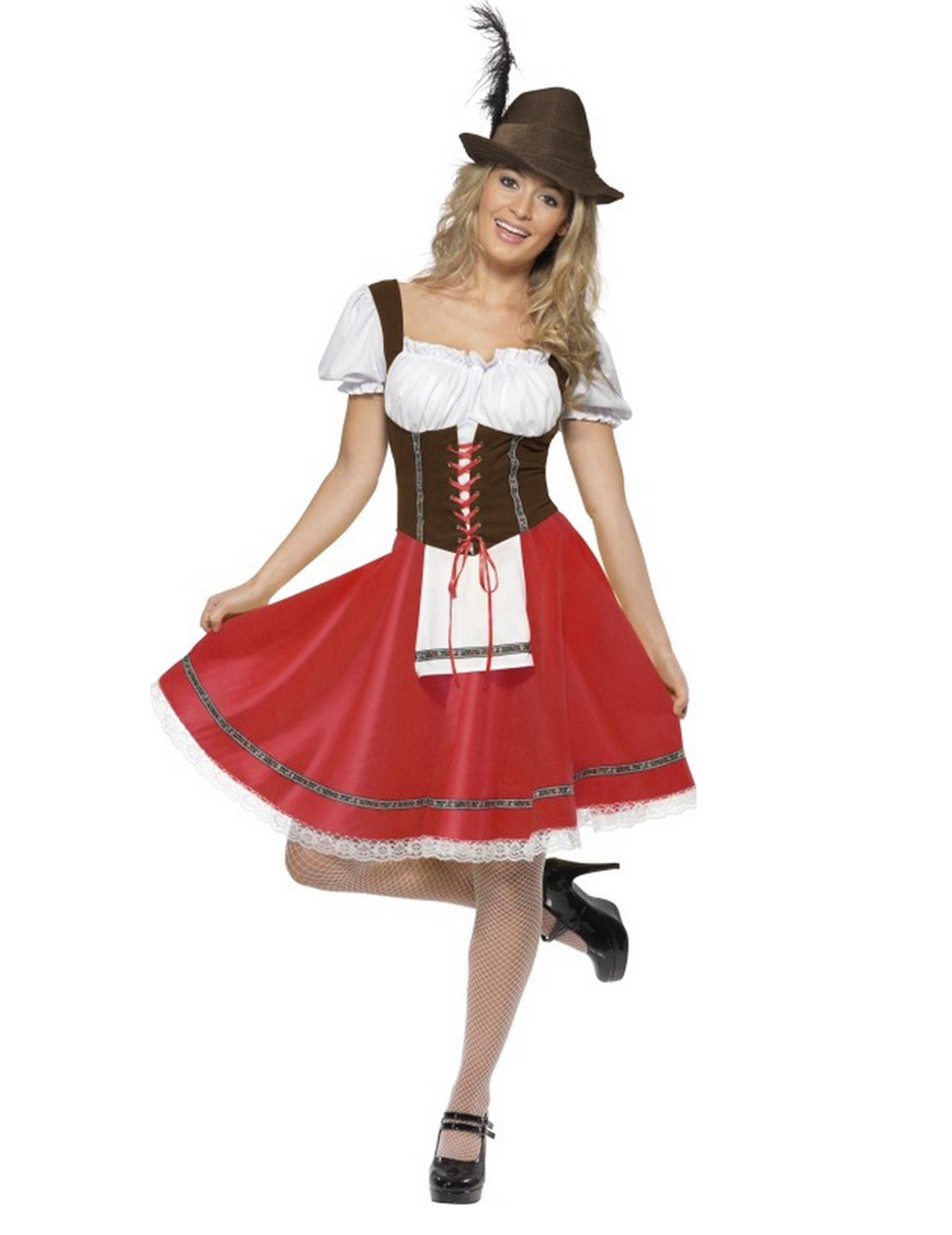 prezzo competitivo 4598c b2bff Costume bavarese rosso per donna