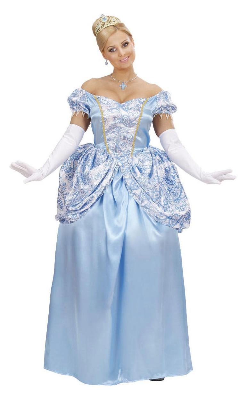 2b40ce74d72a Costume da principessa blu  Costumi adulti
