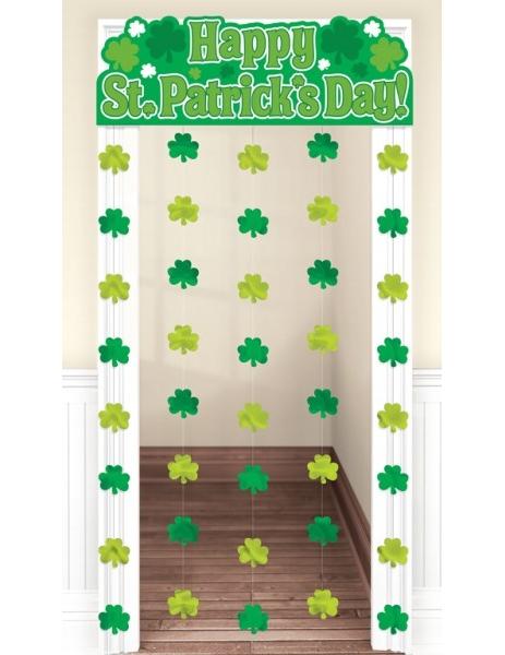 Decorazione per porte con trifogli verdi per la festa di - San patrizio per i bambini ...