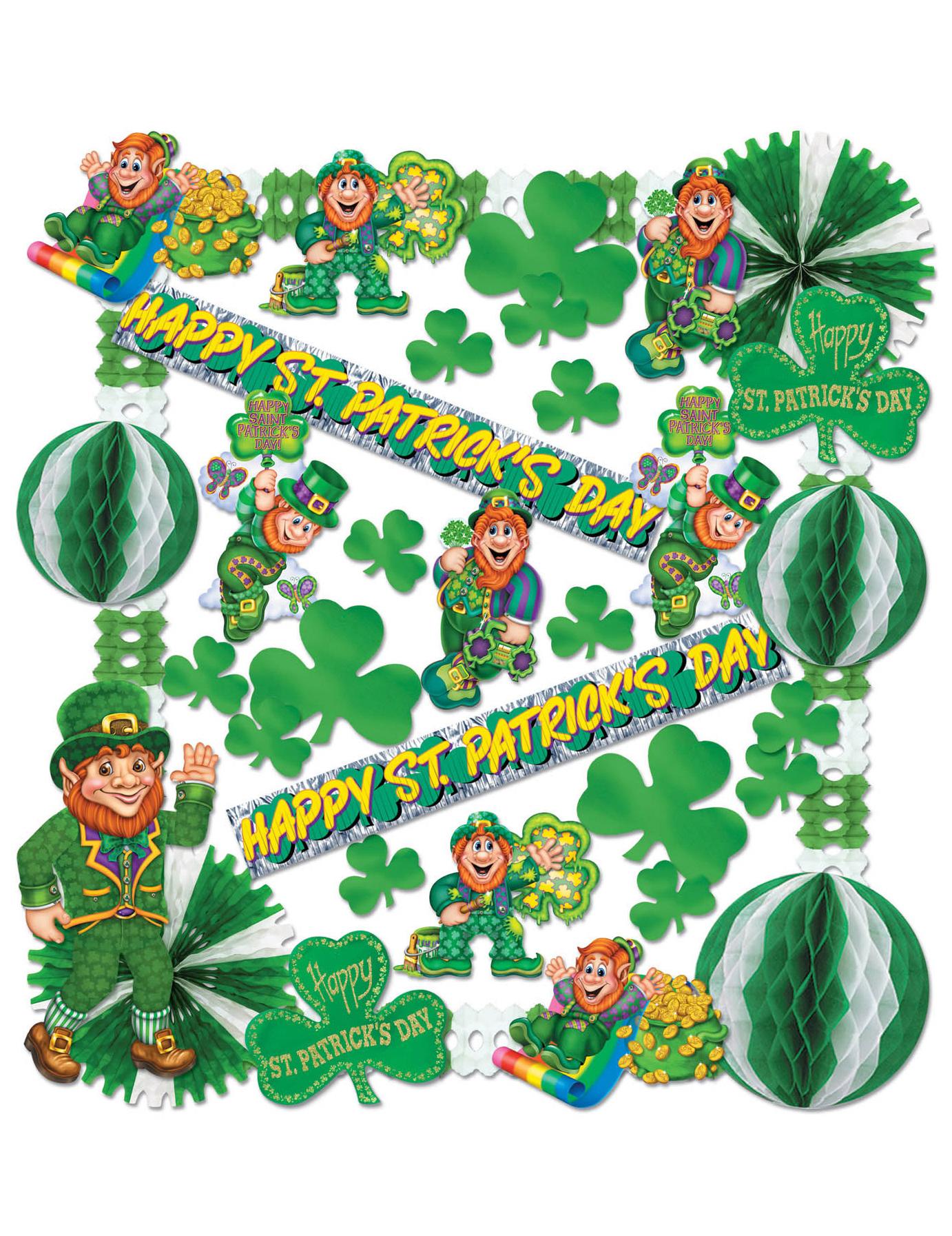 Kit di decorazioni per la festa di san patrizio in carta e - San patrizio per i bambini ...