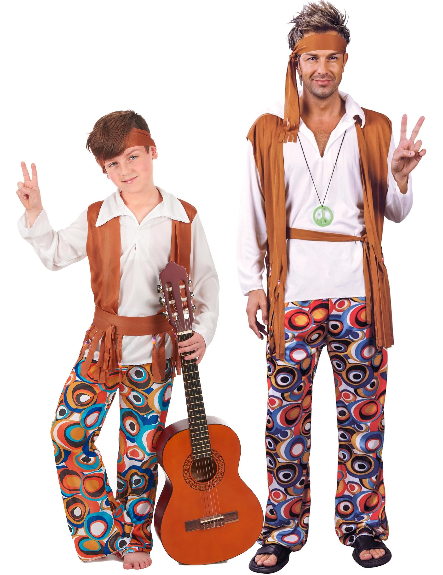 bcaab34a81a7 Costume Coppia Hippy padre e figlio