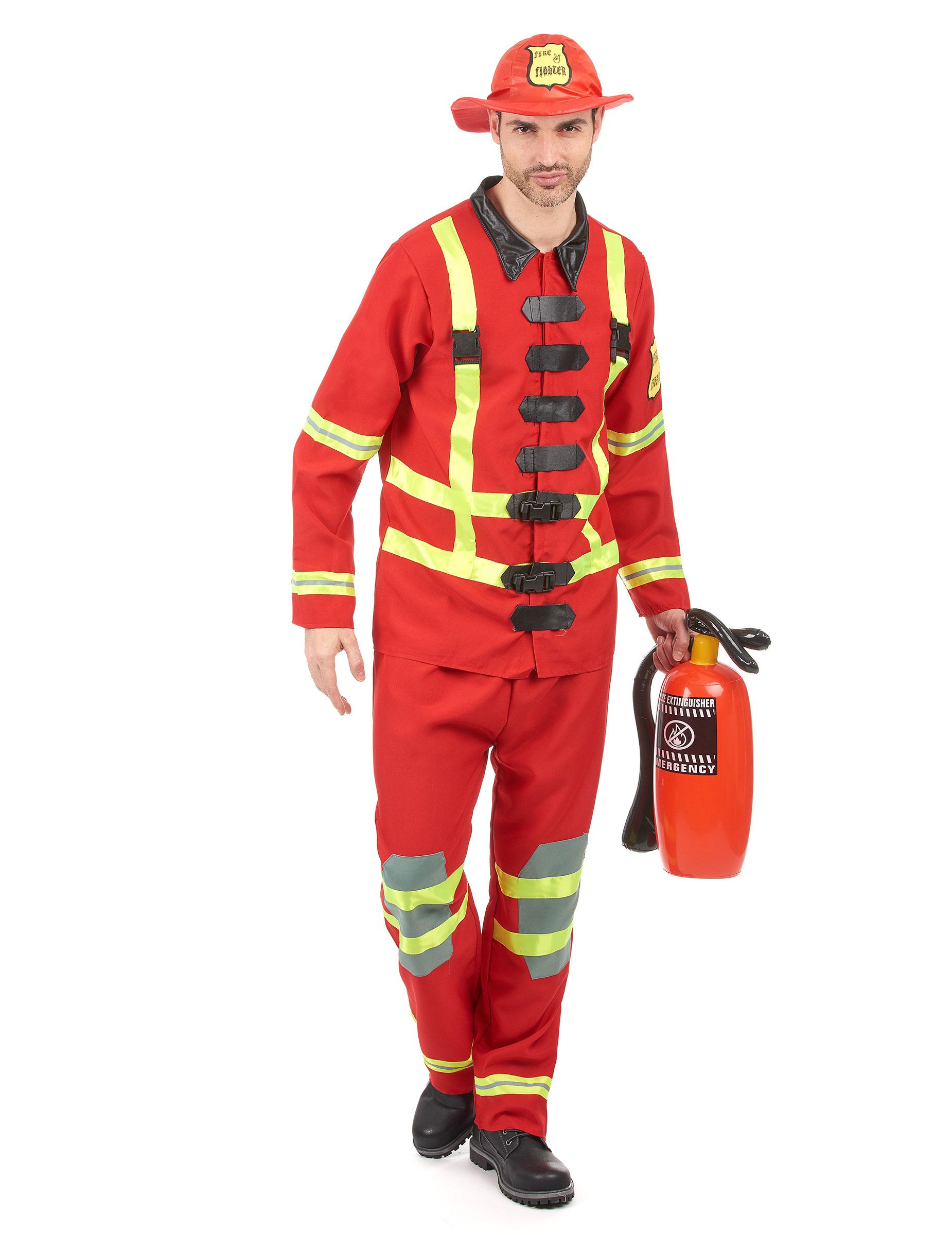 Travestimento da vigile del fuoco per uomo 07fecdc150f5