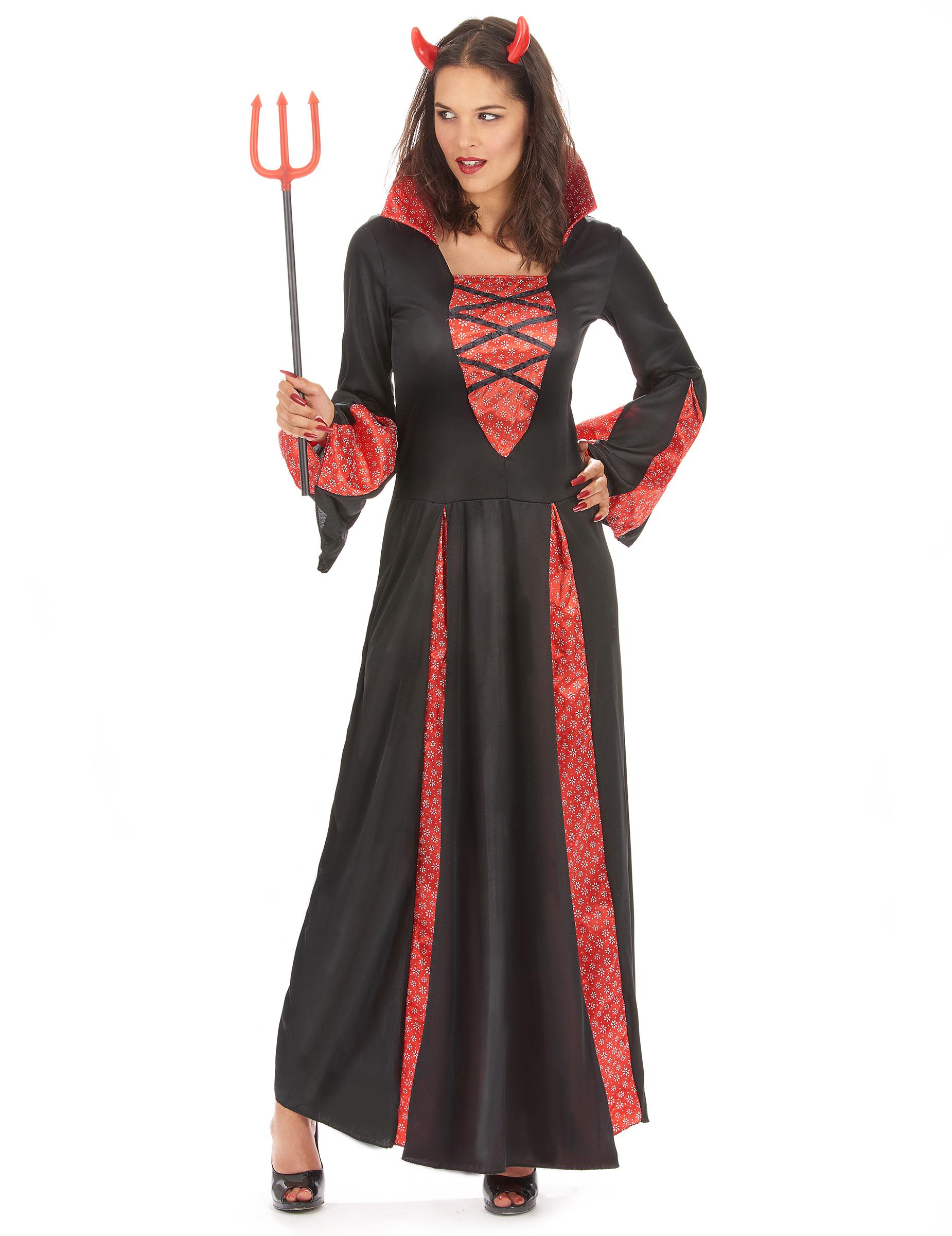 Costume diavolessa nero e rosso per donna 8e806c044f84
