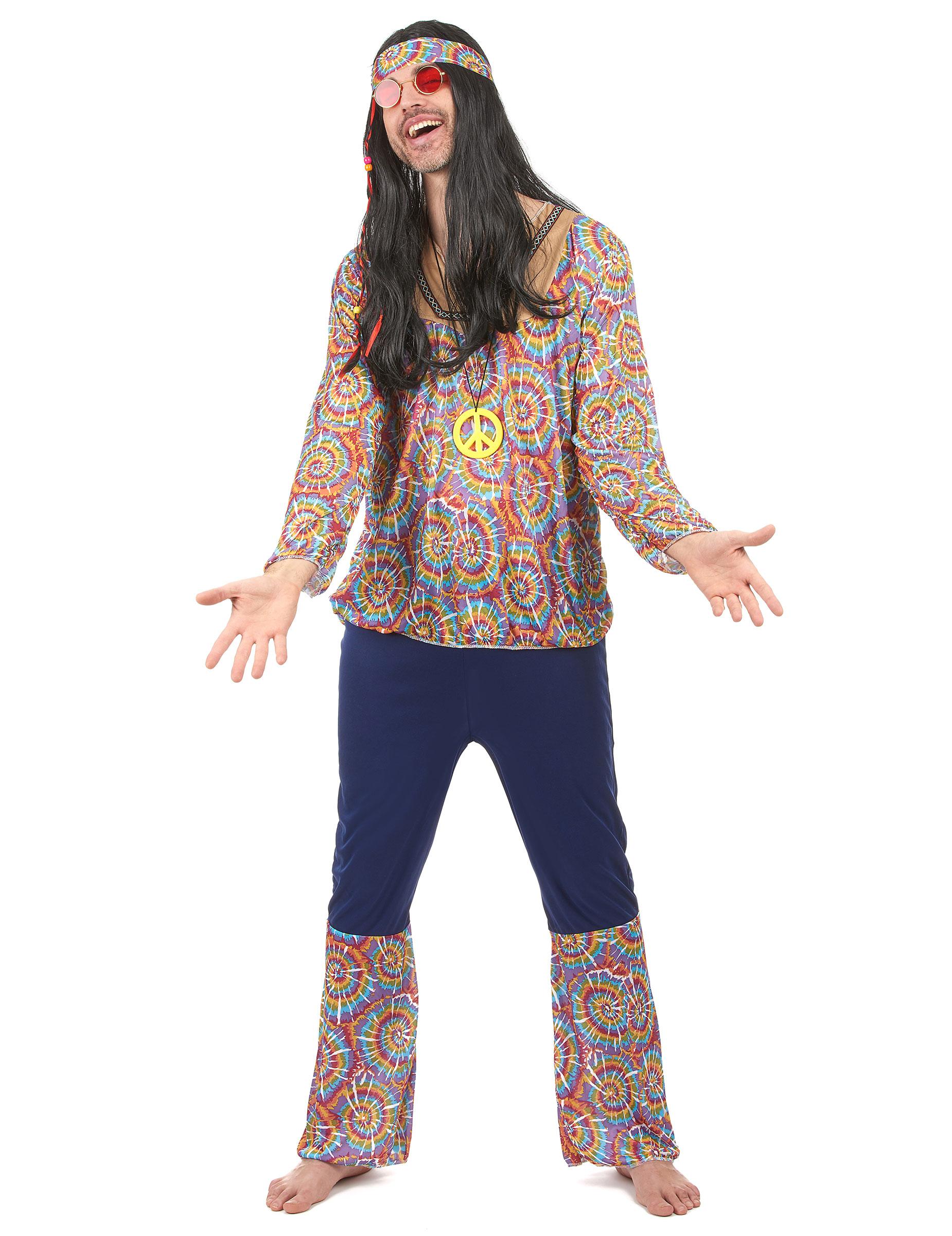 Costume hippie peace and love per uomo b0b869c6ddd