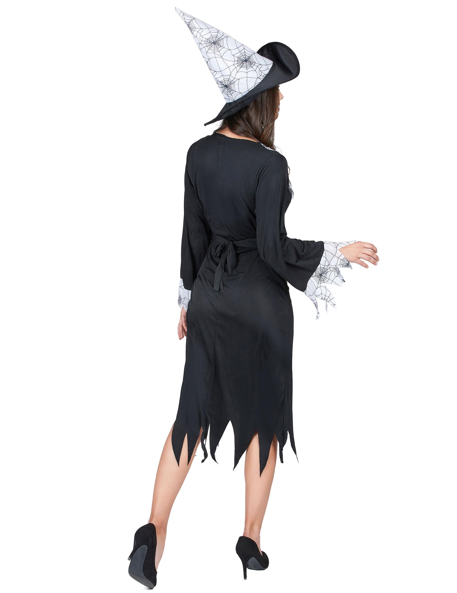 Costume da strega con dettagli ragnatela per donna-2 e24180b6a106