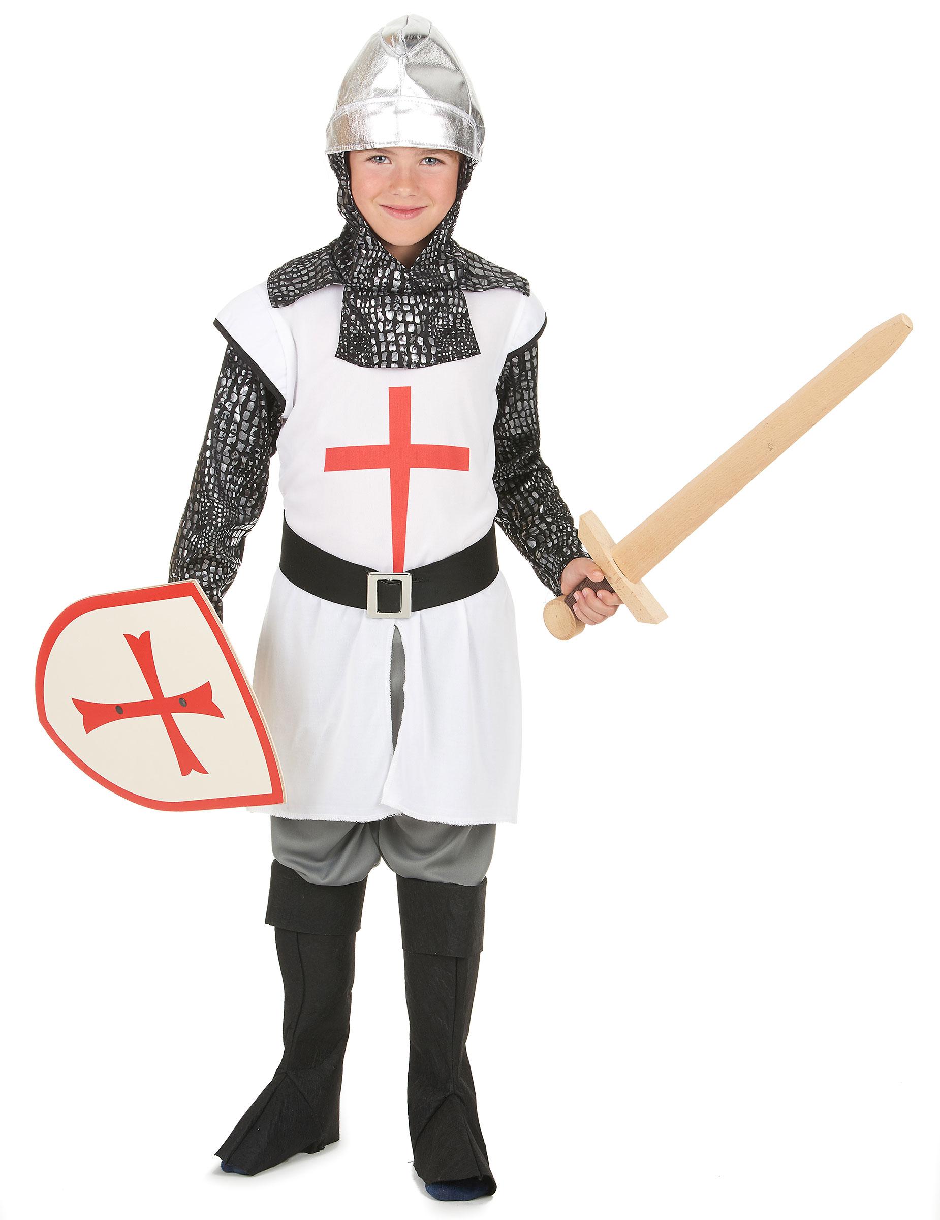 Vestito Cavaliere Bambino.Completo Da Templare Per Bambino