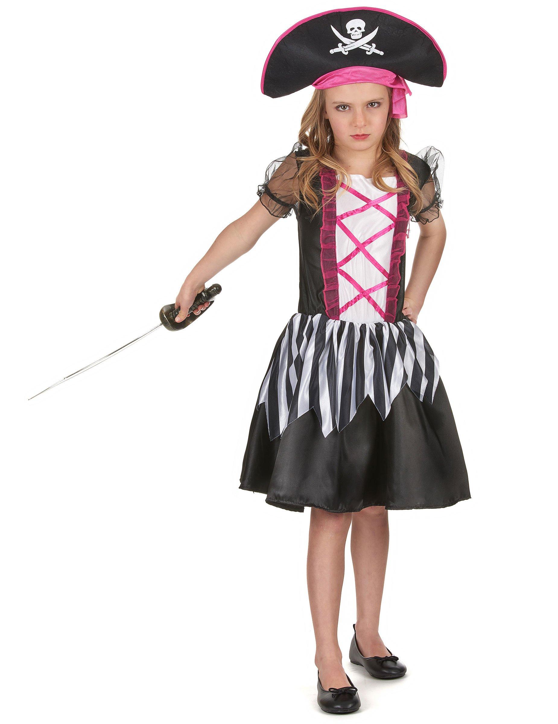 Preferenza Vestito da corsaro nero e rosa per bambina HP45