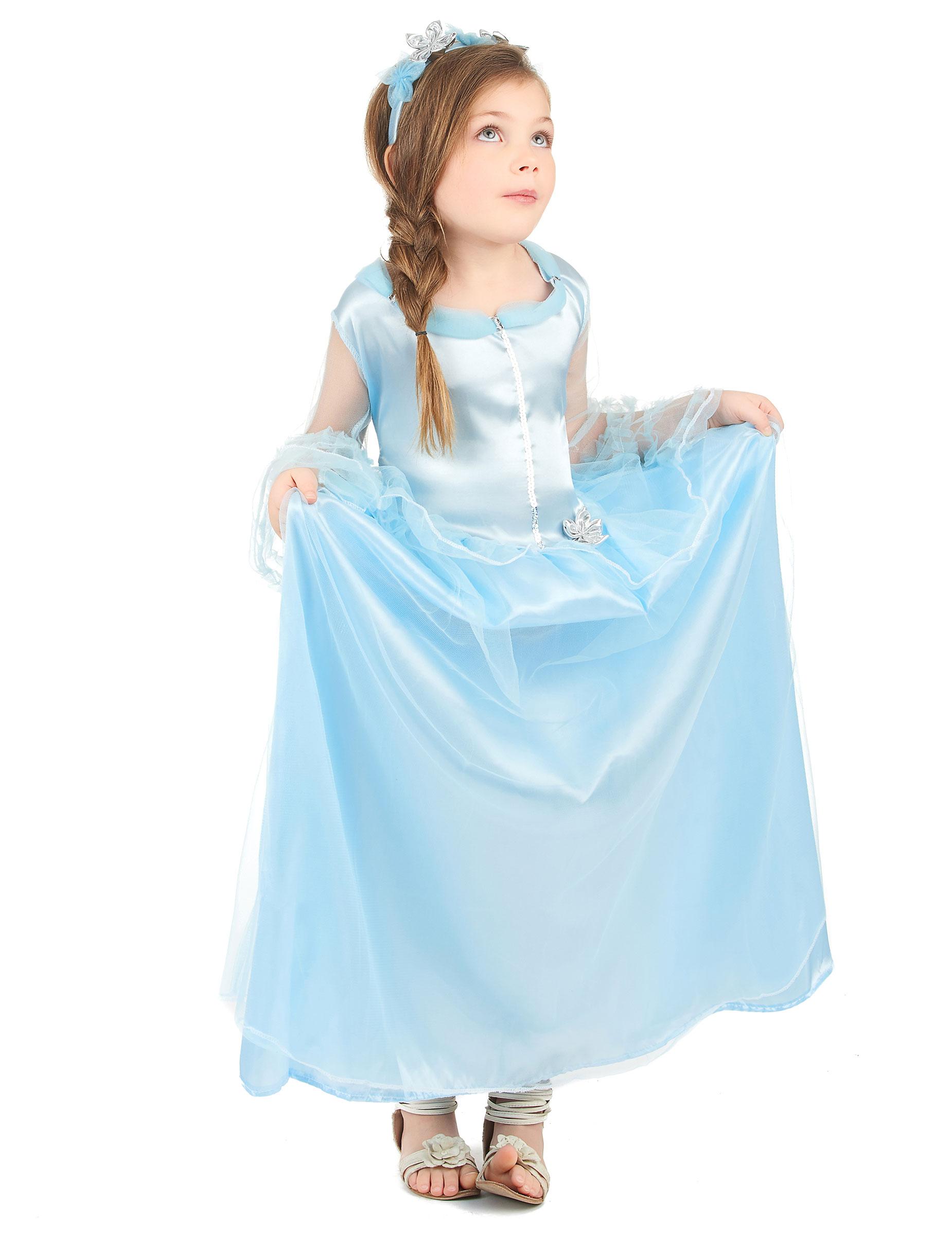 952ed8ba5a17 Costume da principessa azzurra per bambina