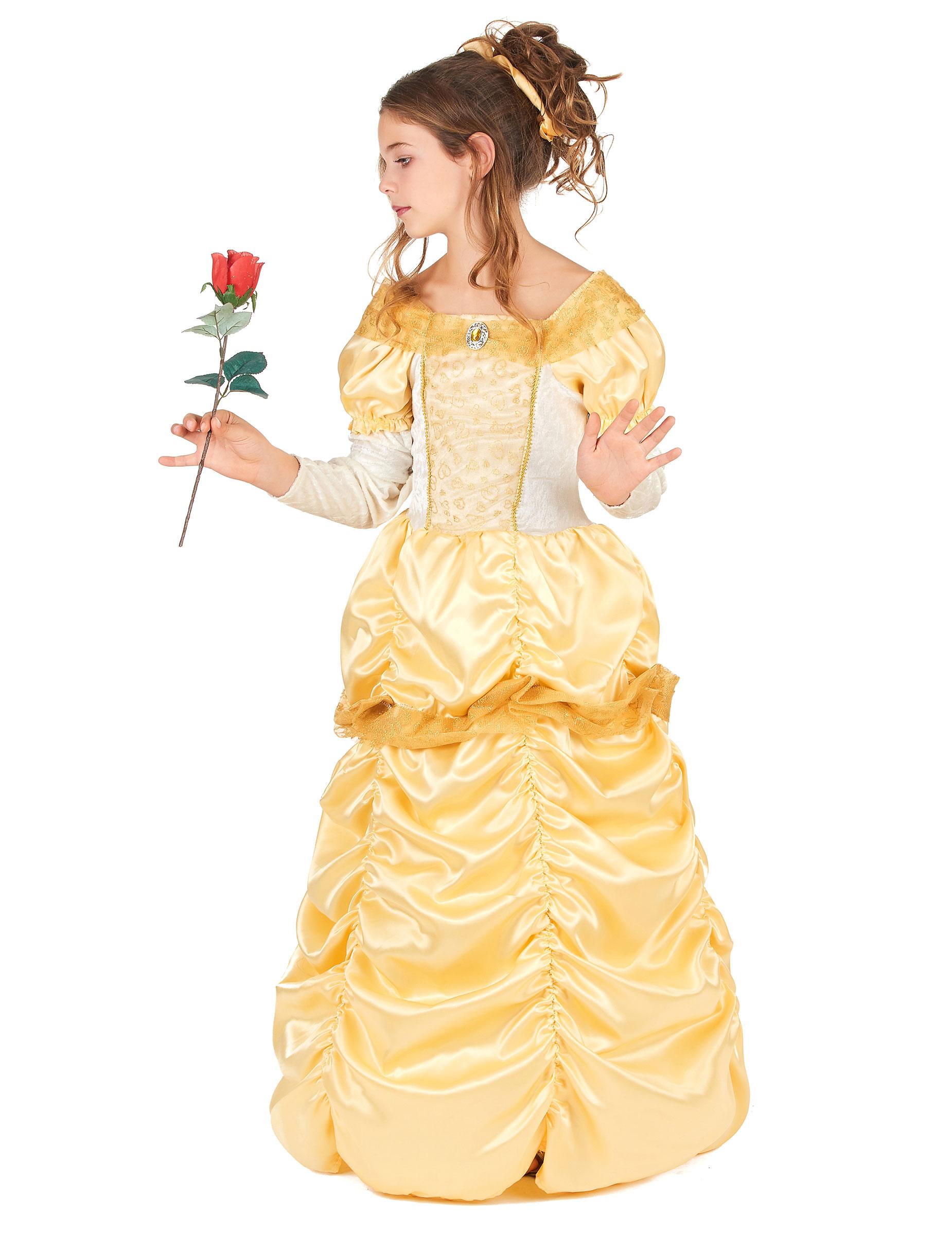 3f58a7ee658e Costume da bella principessa in giallo per bambina-1