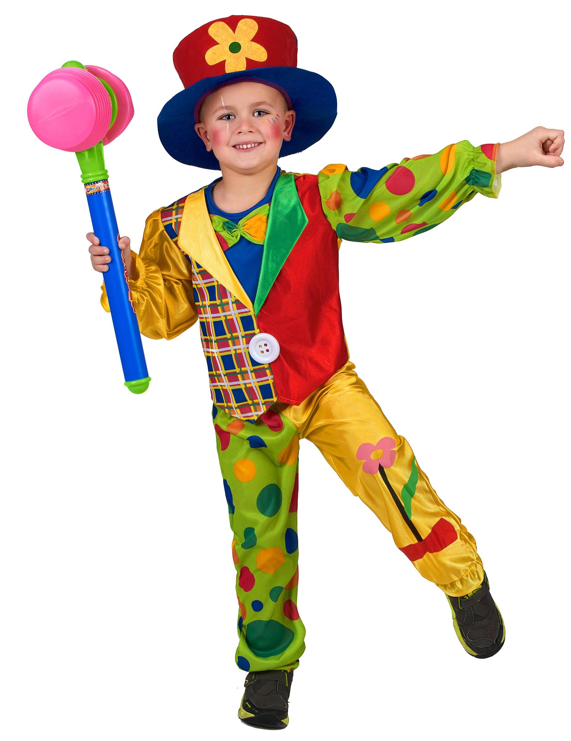 f61de5150ede Vestito da clown colorato per bambino
