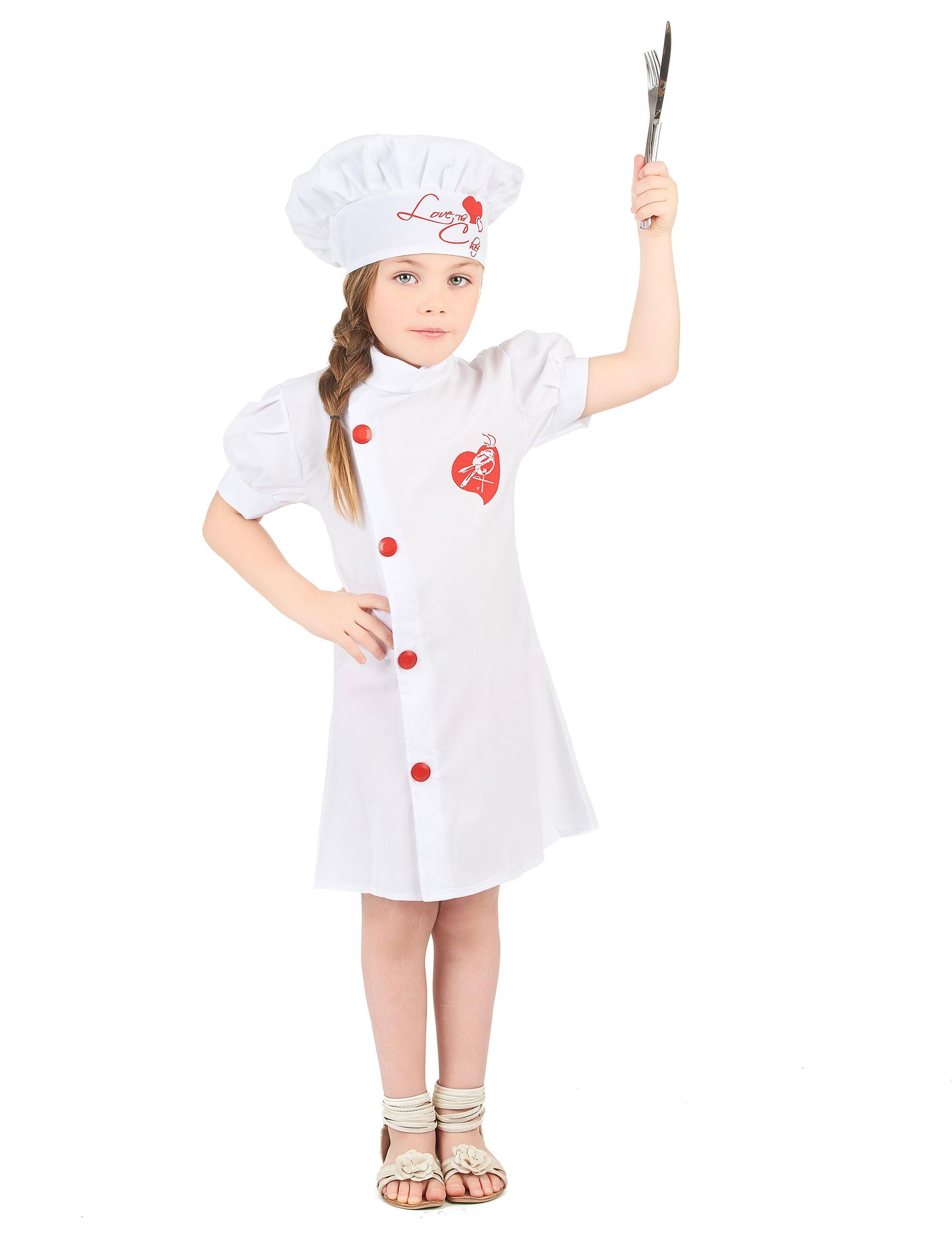 Vestito di Carnevale per bambina cuoca 627230f8fe3f