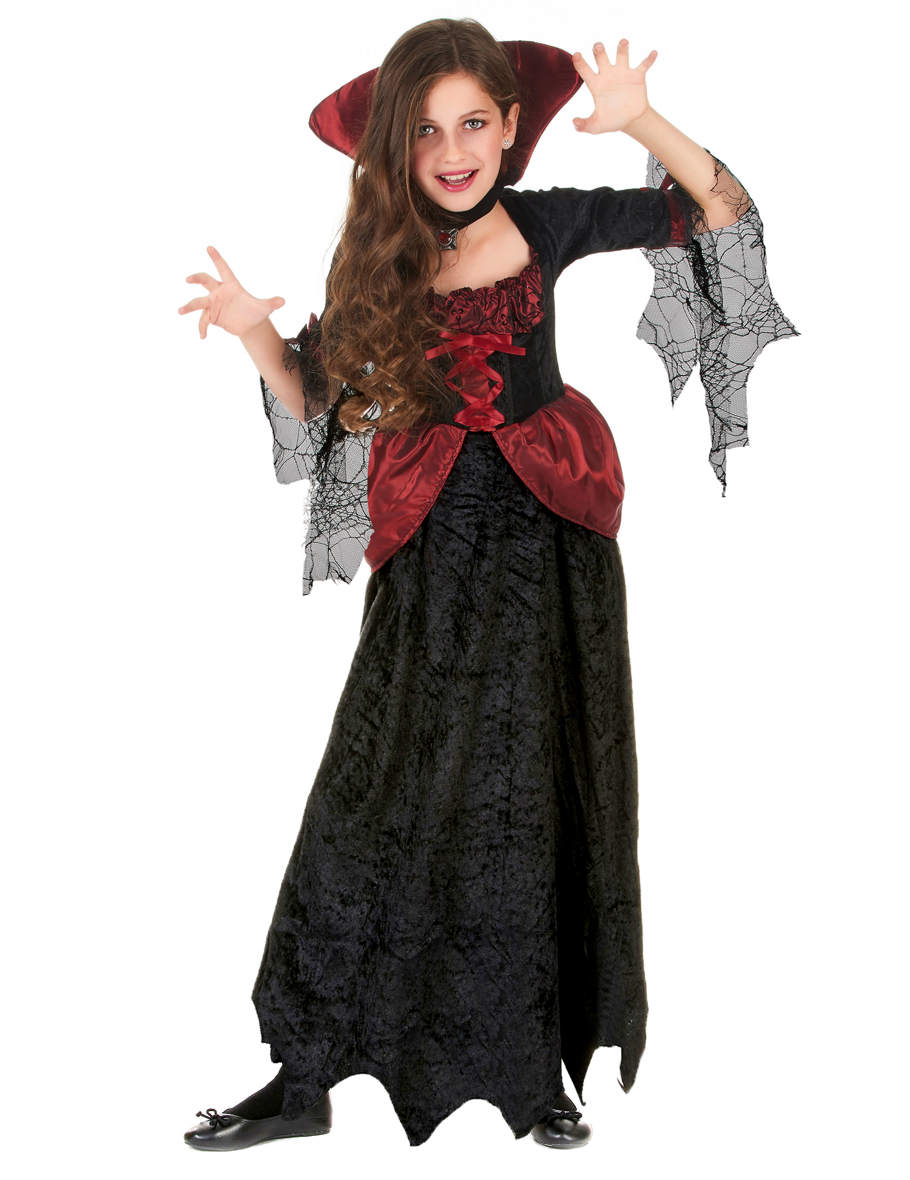 vestito da bambina per halloween costume vampira. Black Bedroom Furniture Sets. Home Design Ideas