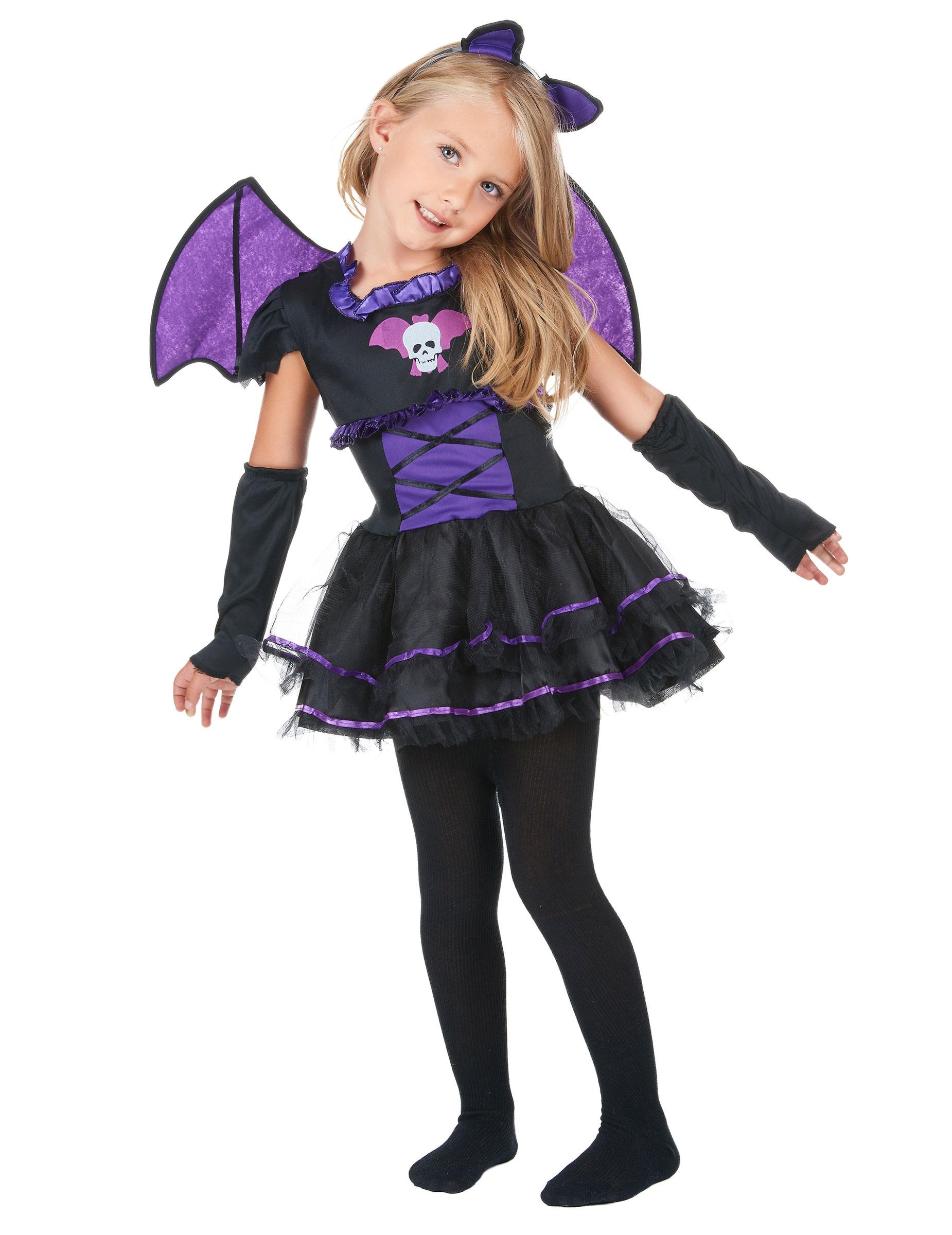 Vestiti Halloween Bambina 3 Anni.Costume Da Pipistrello Viola Bambina