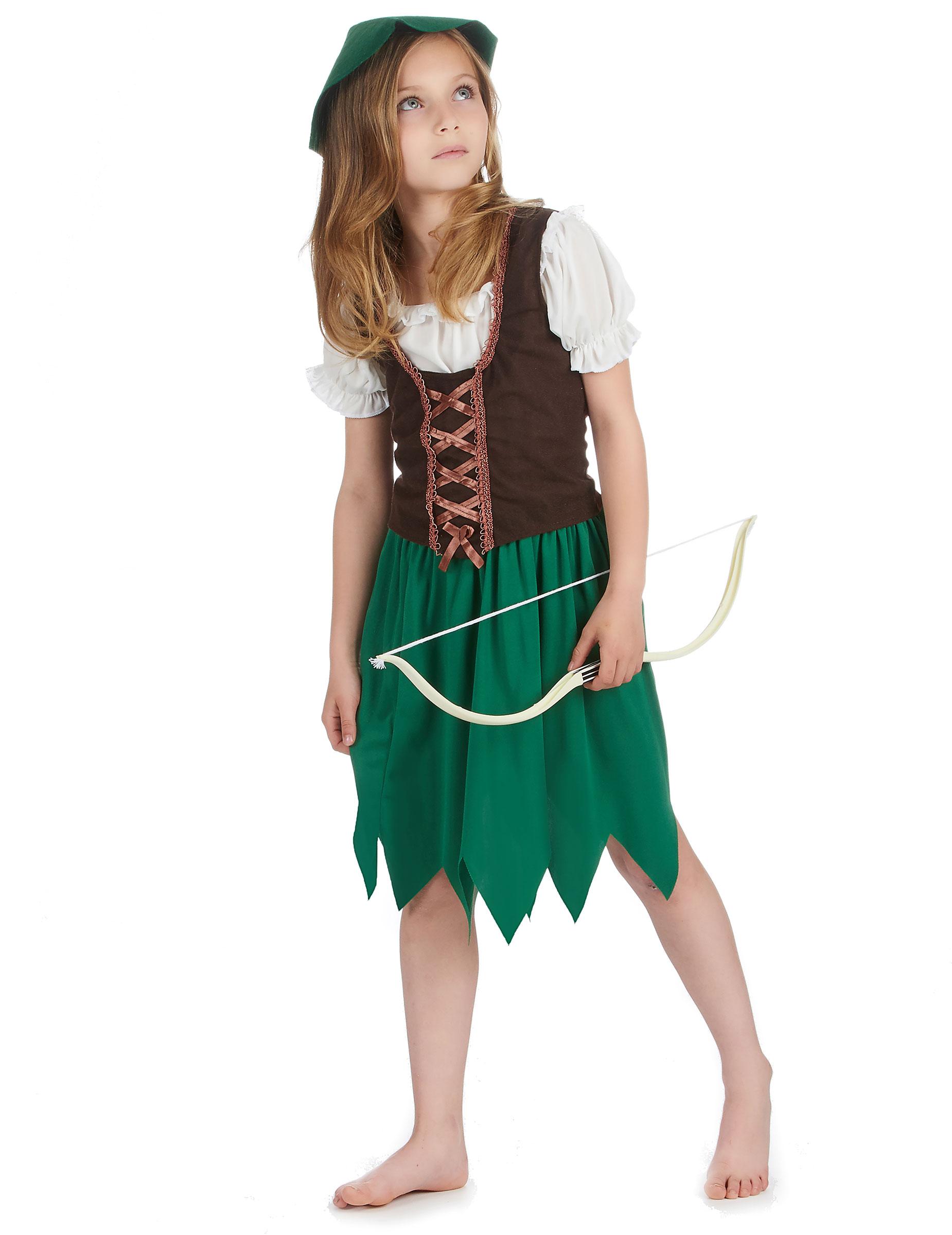 42f5f54a562d2 Vestito da guerrigliera dei boschi per bambina