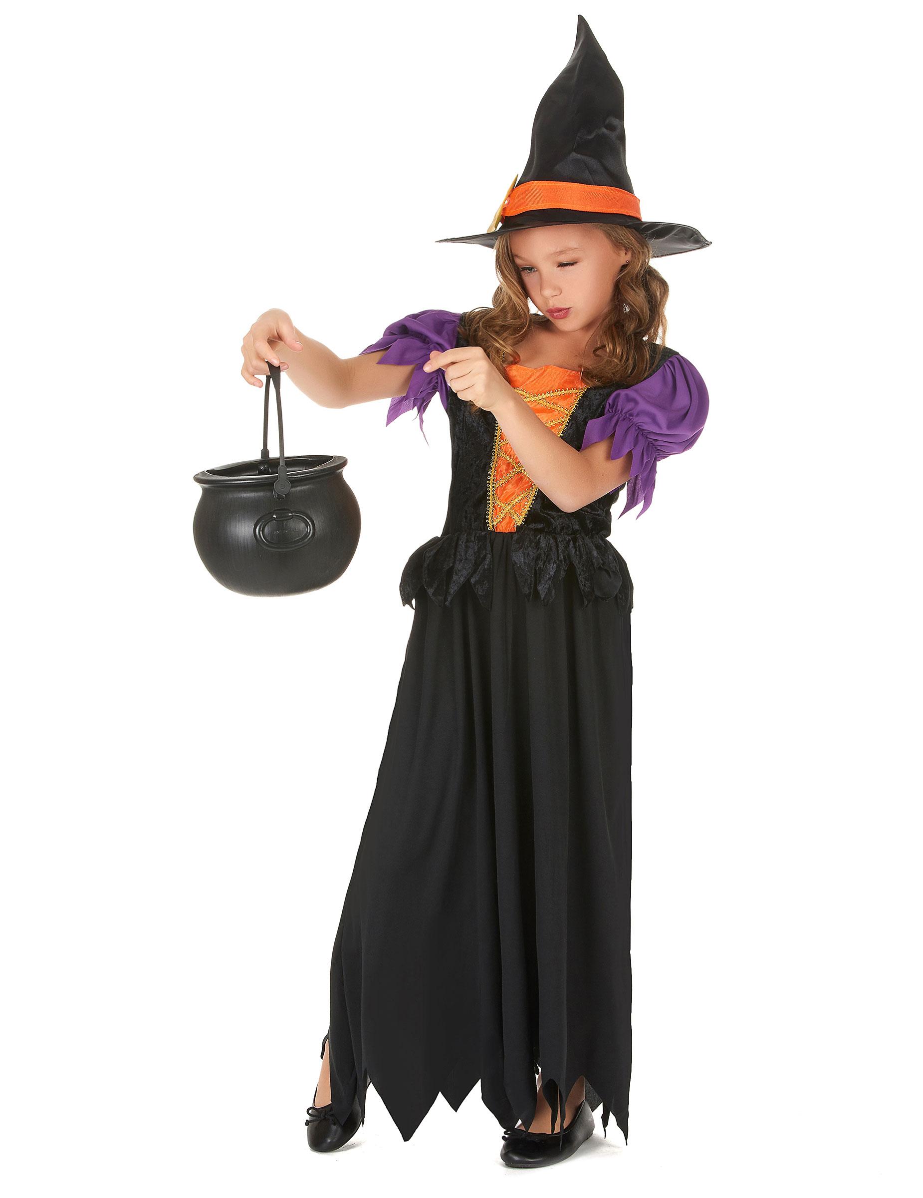 04df051d2418 Costume strega nero e arancione bambina-1