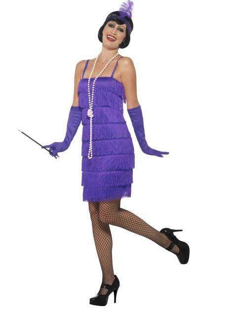 Costume anni 20 charleston viola Donna  Costumi adulti 4a7cd15fad6