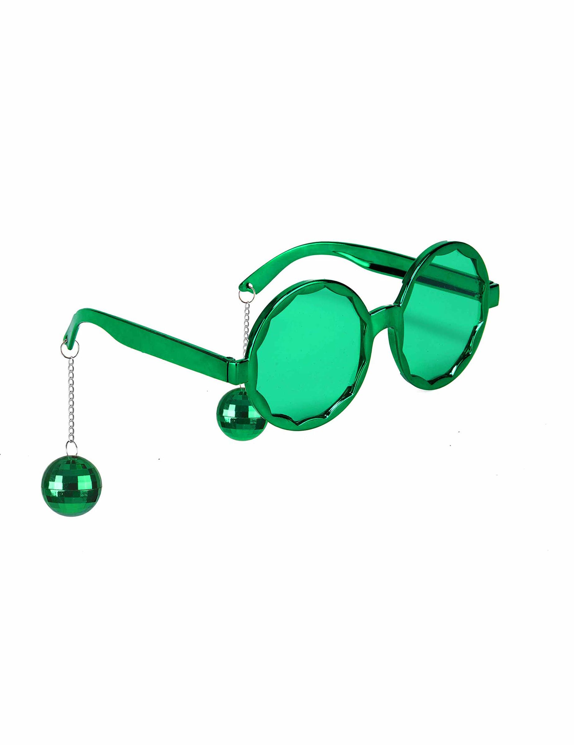 data di rilascio 12524 51d95 Occhiali disco verdi con sfere adulto