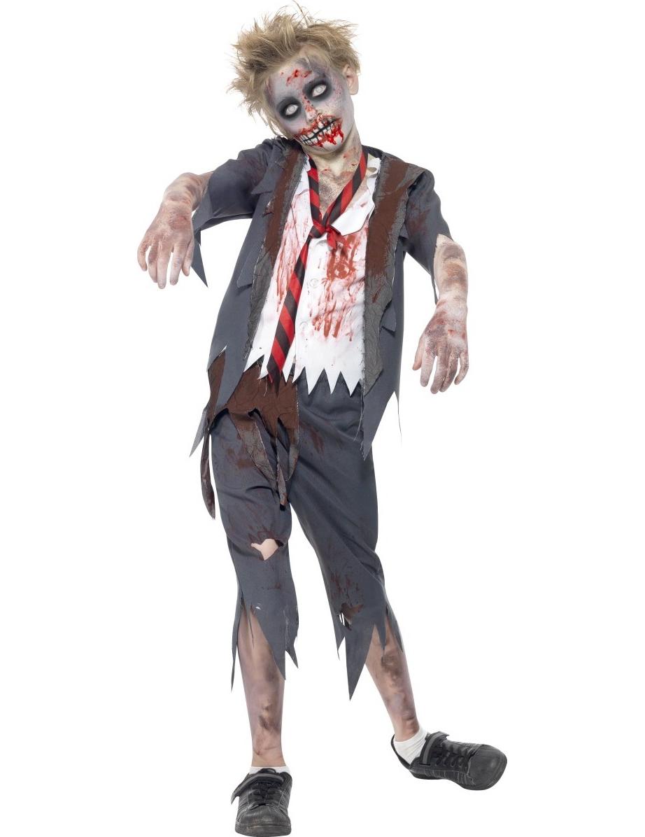 Vestito zombie studente ragazzo Halloween 5ef949b6871c