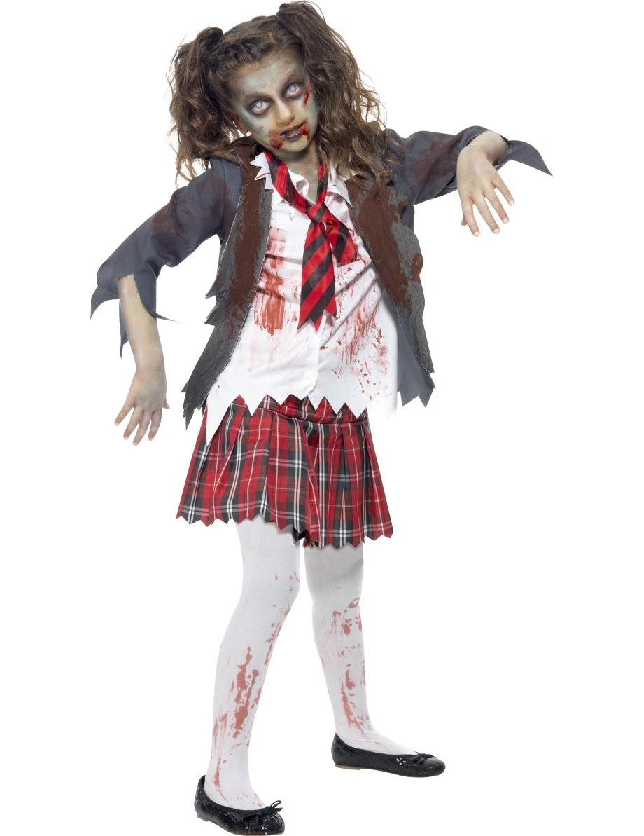 costume da studentessa zombie bambina halloween. Black Bedroom Furniture Sets. Home Design Ideas