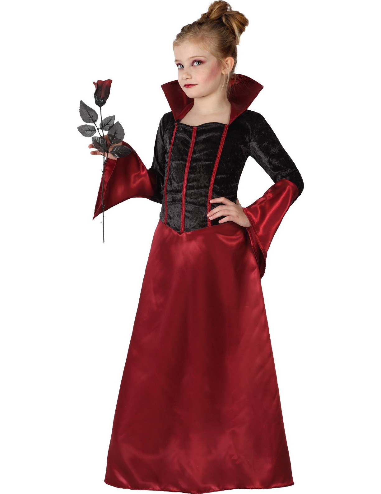 San Francisco vendita economica sconto del 50 Costume vampiro bambina con gonna satinata