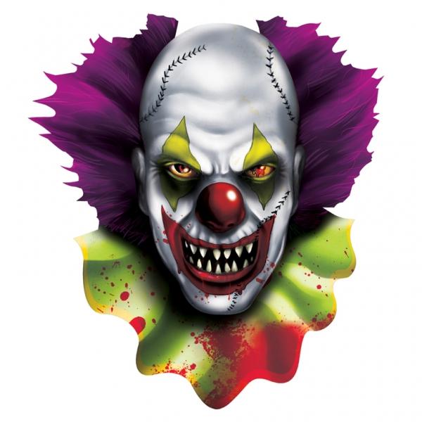 Ritaglio Decorativo Pagliaccio Spaventoso Per Halloween