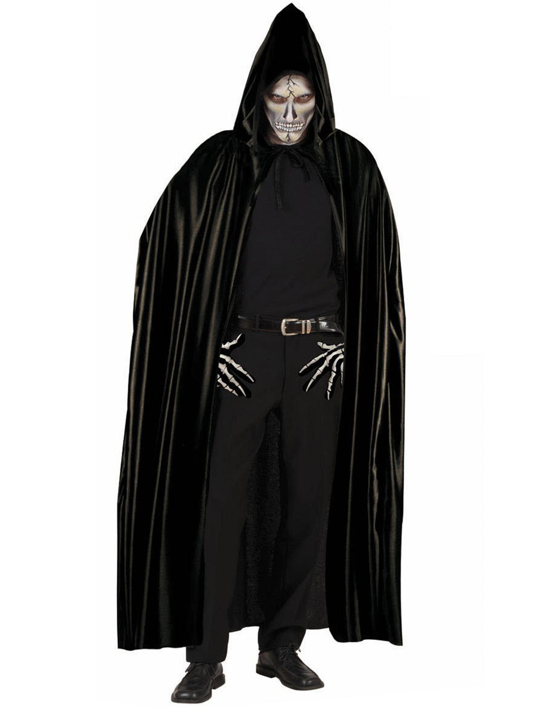 WINOMO Mantello da Cosplay per Adulti Nero Mantello per Vampiri Nero Mantello per Feste in Maschera Mantello per Feste in Maschera di Halloween