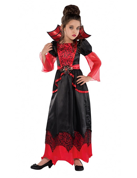 Costume da vampiro per bambina halloween online daa65b0df8d3