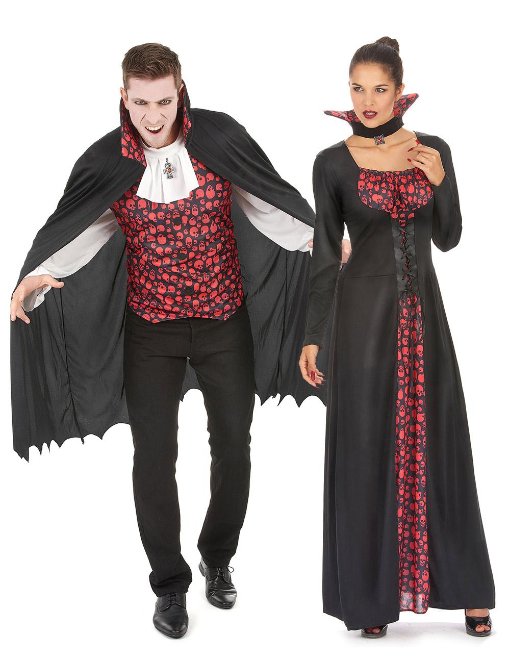 vestiti per coppia vampiri halloween. Black Bedroom Furniture Sets. Home Design Ideas
