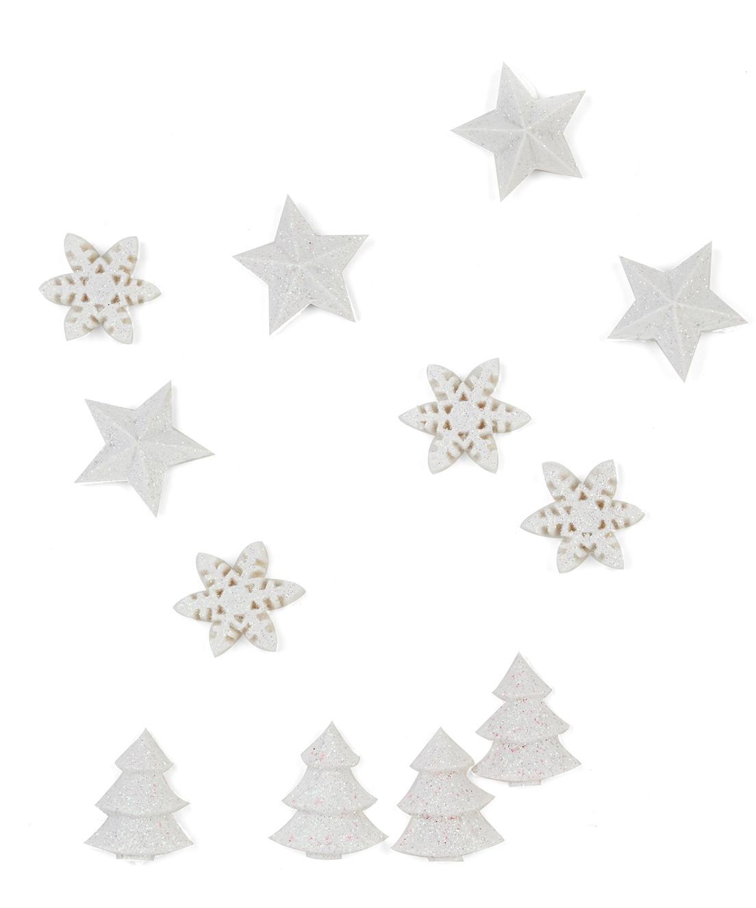 12 decorazioni per la tavola natale bianche - Decorazioni bianche ...