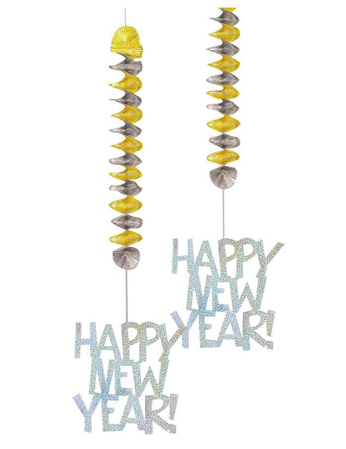 Festoni da appendere per l 39 anno nuovo - Decorazioni sospese ...