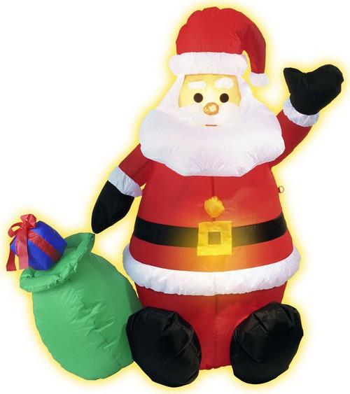 Decorazioni Natalizie Gonfiabili.Decorazione Gonfiabile Babbo Natale Luminoso