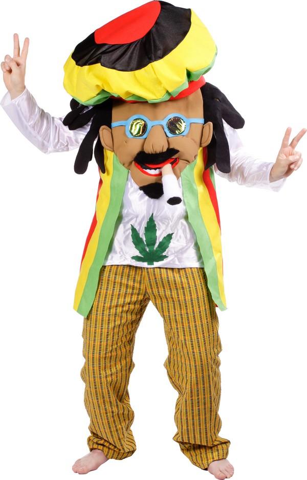 mascotte costume adulto  Costume da mascotte rasta per adulto: Costumi adulti,e vestiti di ...