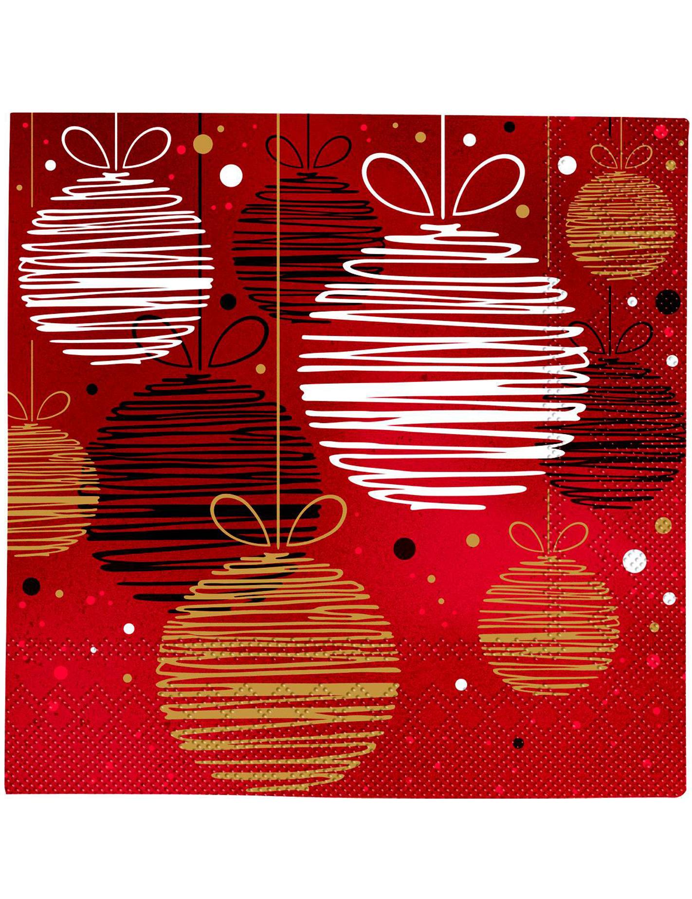 20 tovaglioli di carta palle di natale - Tovaglioli di carta decorati ...