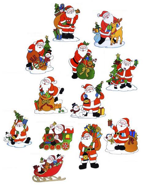 Sticker decorativo per finestre con babbo natale - Adesivi natalizi per finestre ...