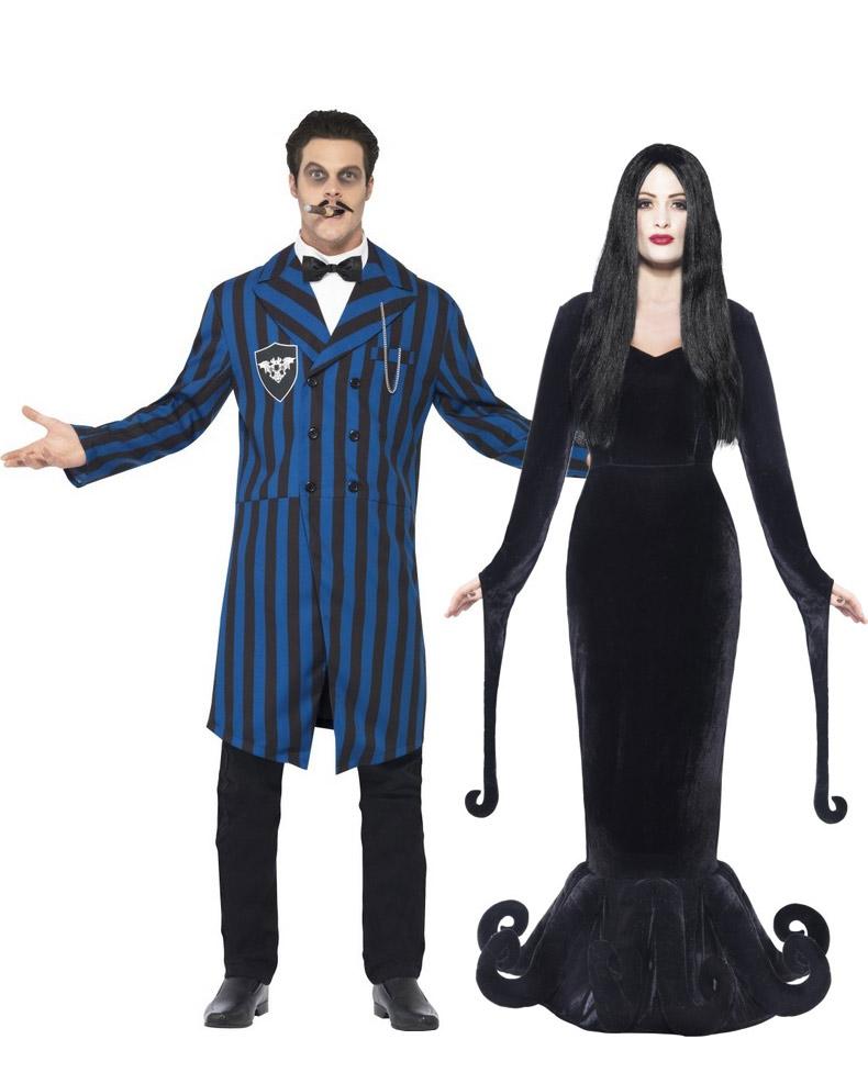 Maylynn costume da hippy anni 60 e 70 per travestimenti di coppia uomo donna blu zoe - Idee costume halloween ...
