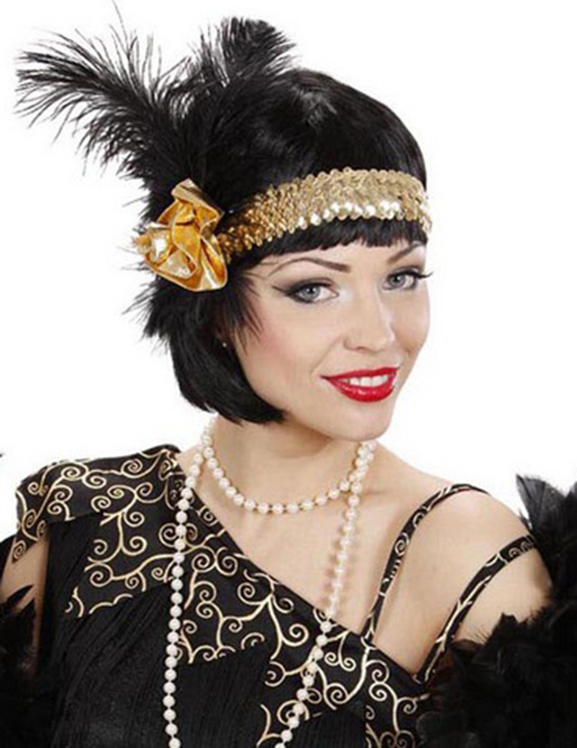 Fascia charleston anni '20 dorata: Accessori,e vestiti di ...