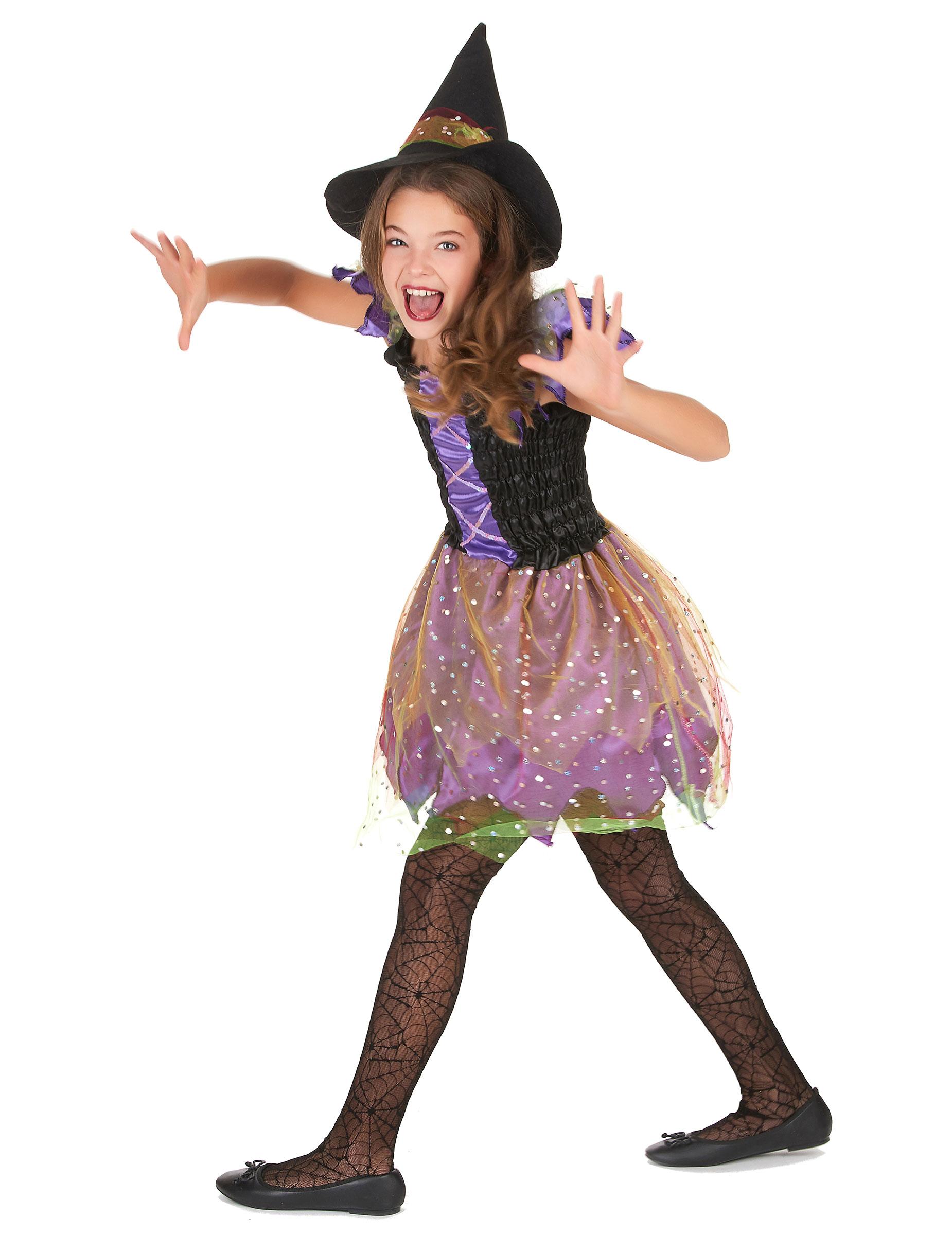 Travestimento strega colorata bambina  Costumi bambini 1047c784861a
