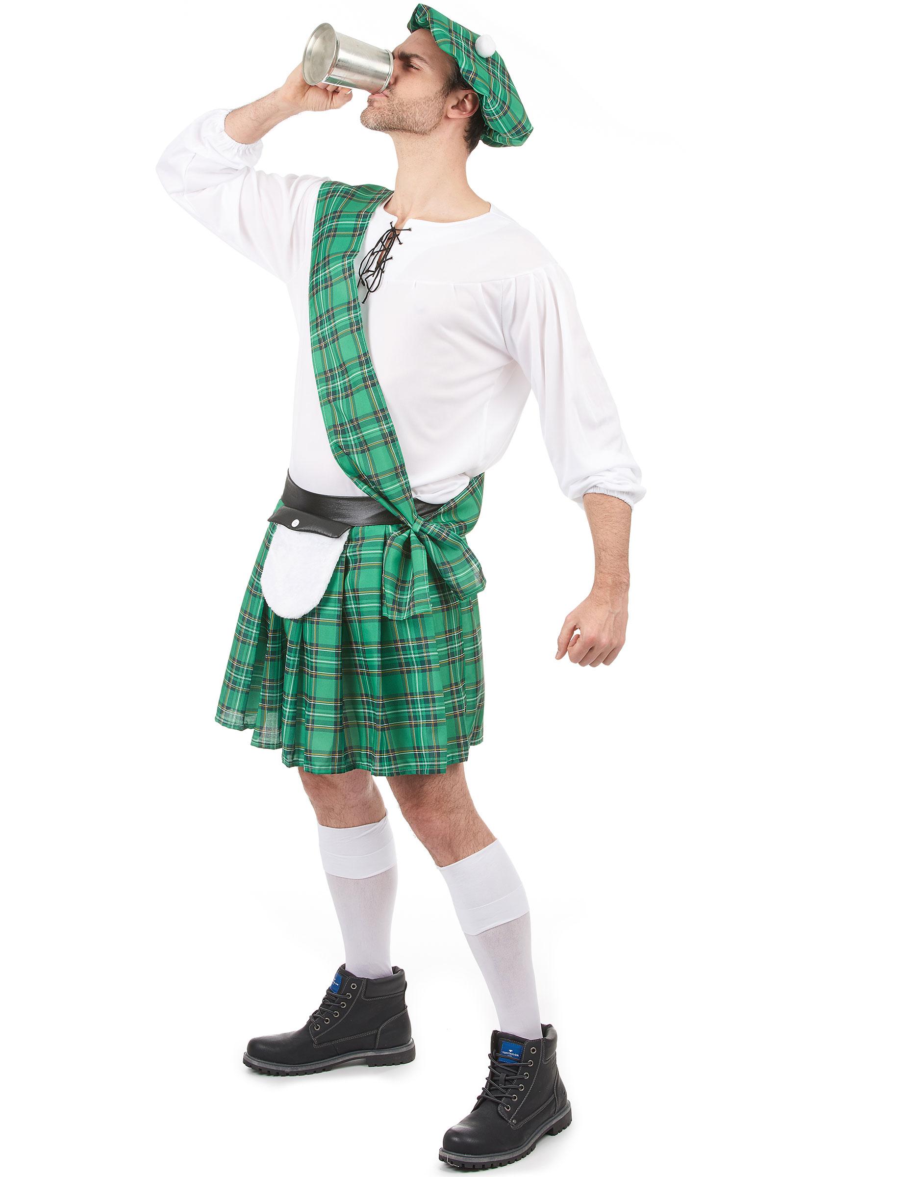 Vestito scozzese verde