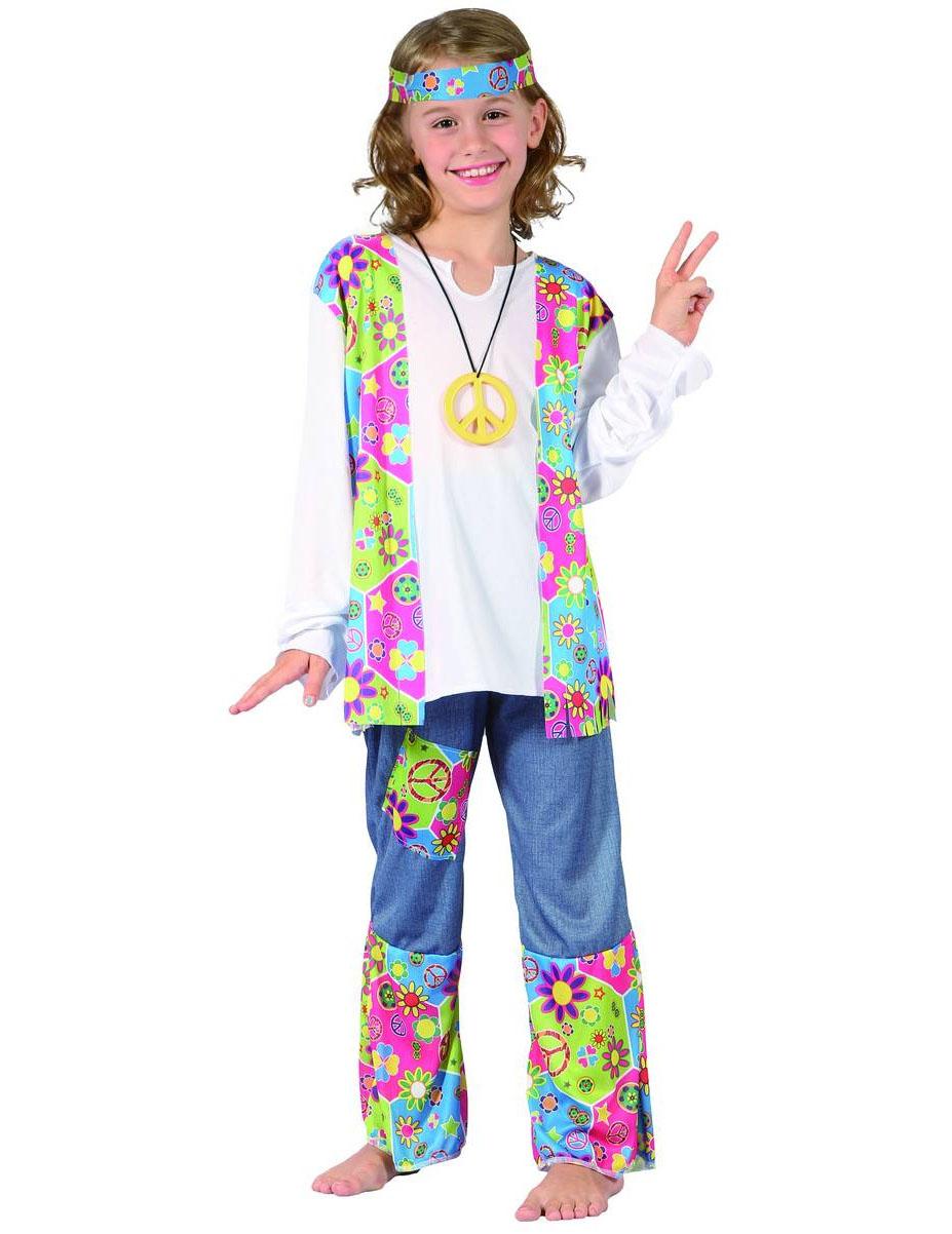 Costume hippy figlia dei fiori da bambina  Costumi bambini 22be5268087