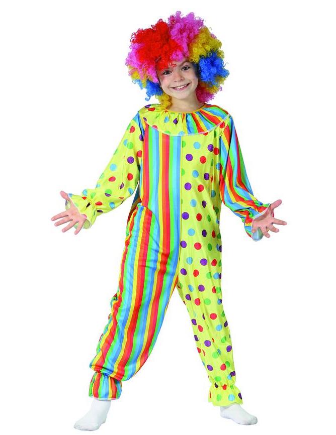 5c8efcbd2afd Costume da pagliaccio righe e pois per bambino  Costumi bambini