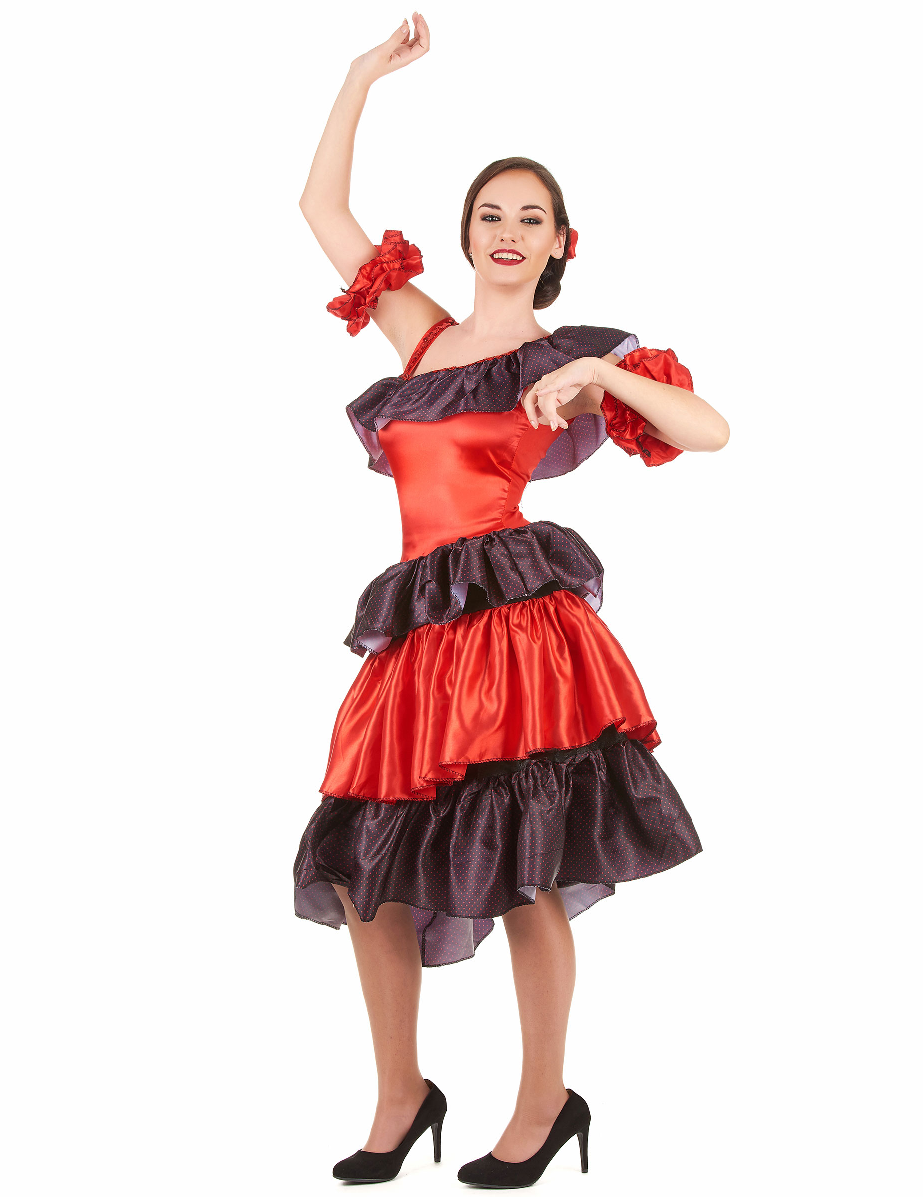 Costume ballerina di flamenco adulto  Costumi adulti d7342af39d5