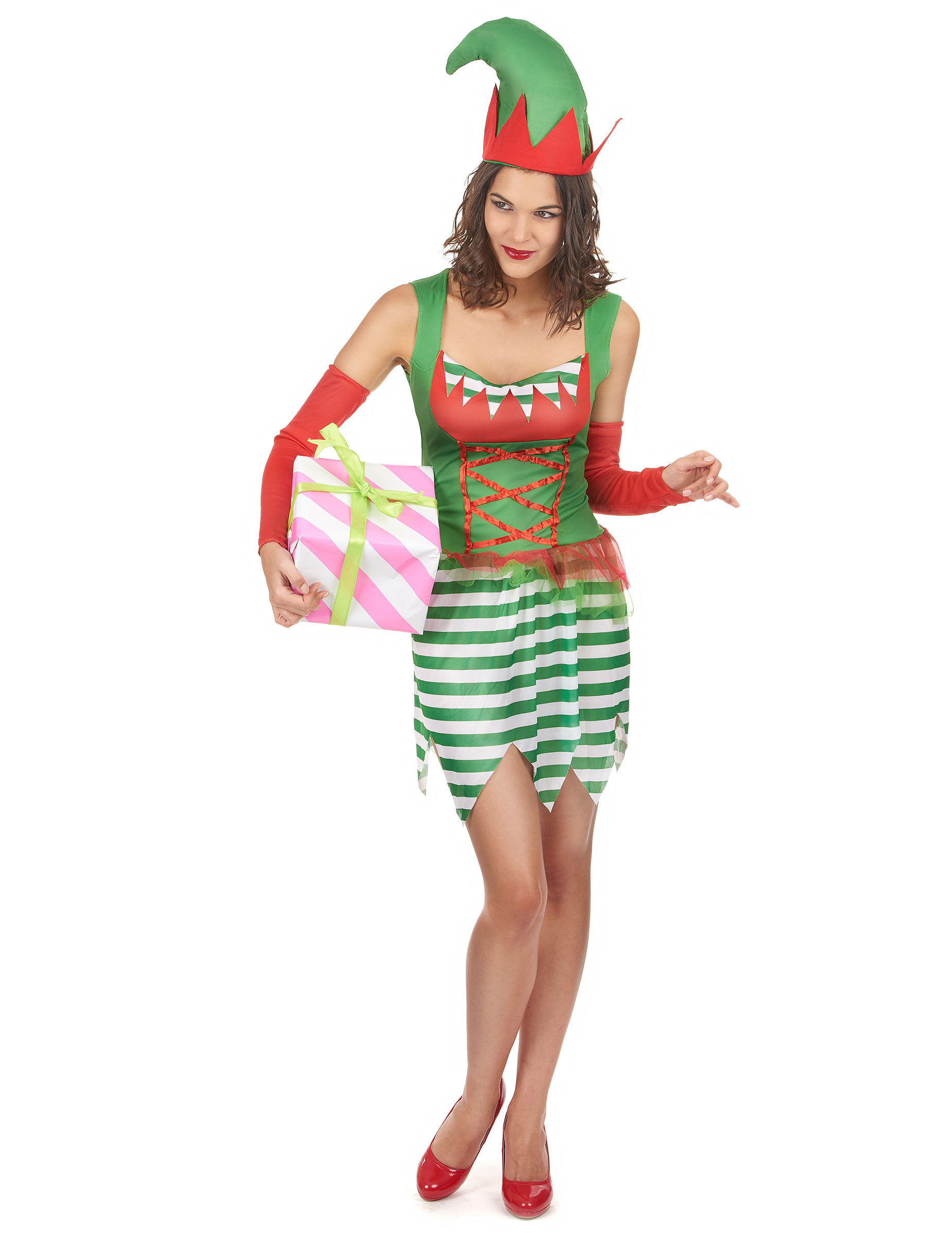 Costume elfo Natale donna  Costumi adulti c81aea3acc8