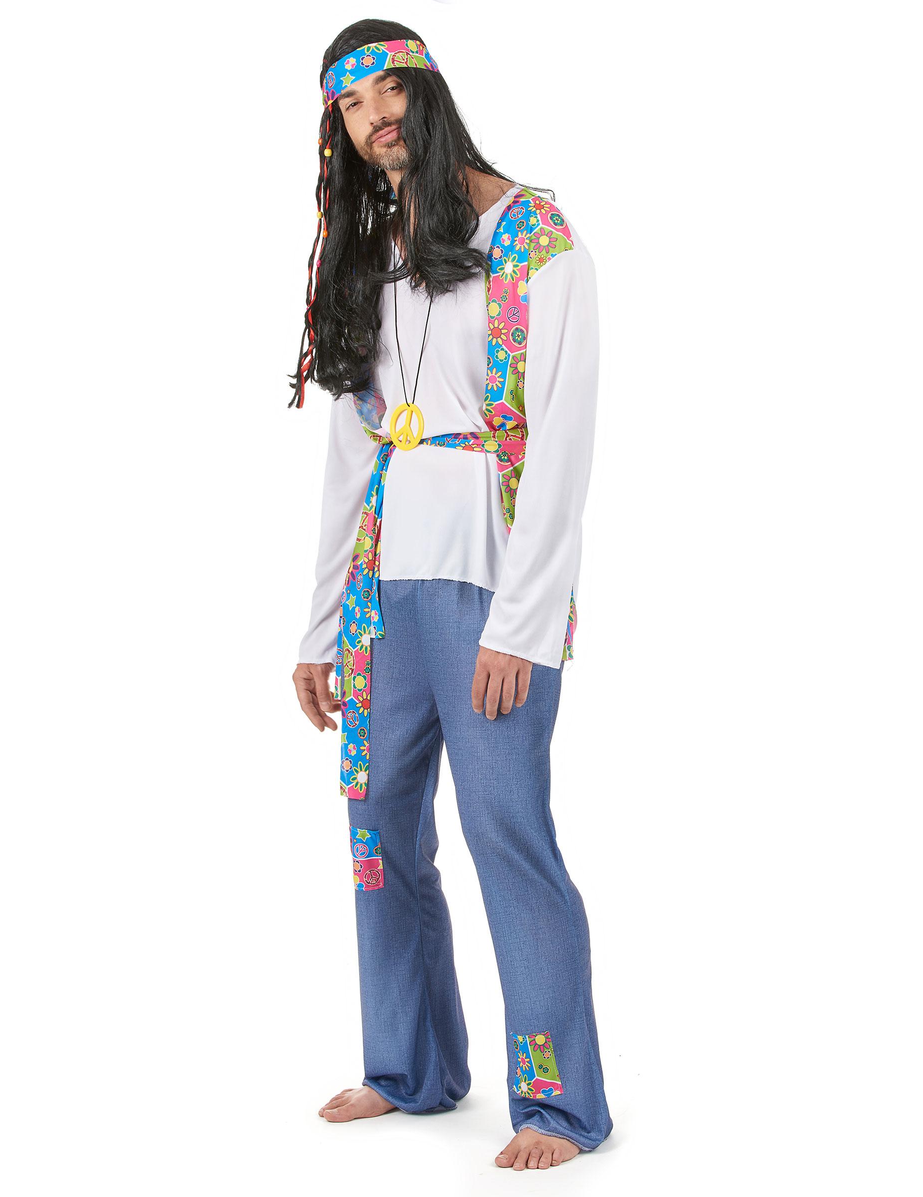 Travestimento hippie anni 60 per uomo con gilet  Costumi adulti 3dc8c1c1d9a
