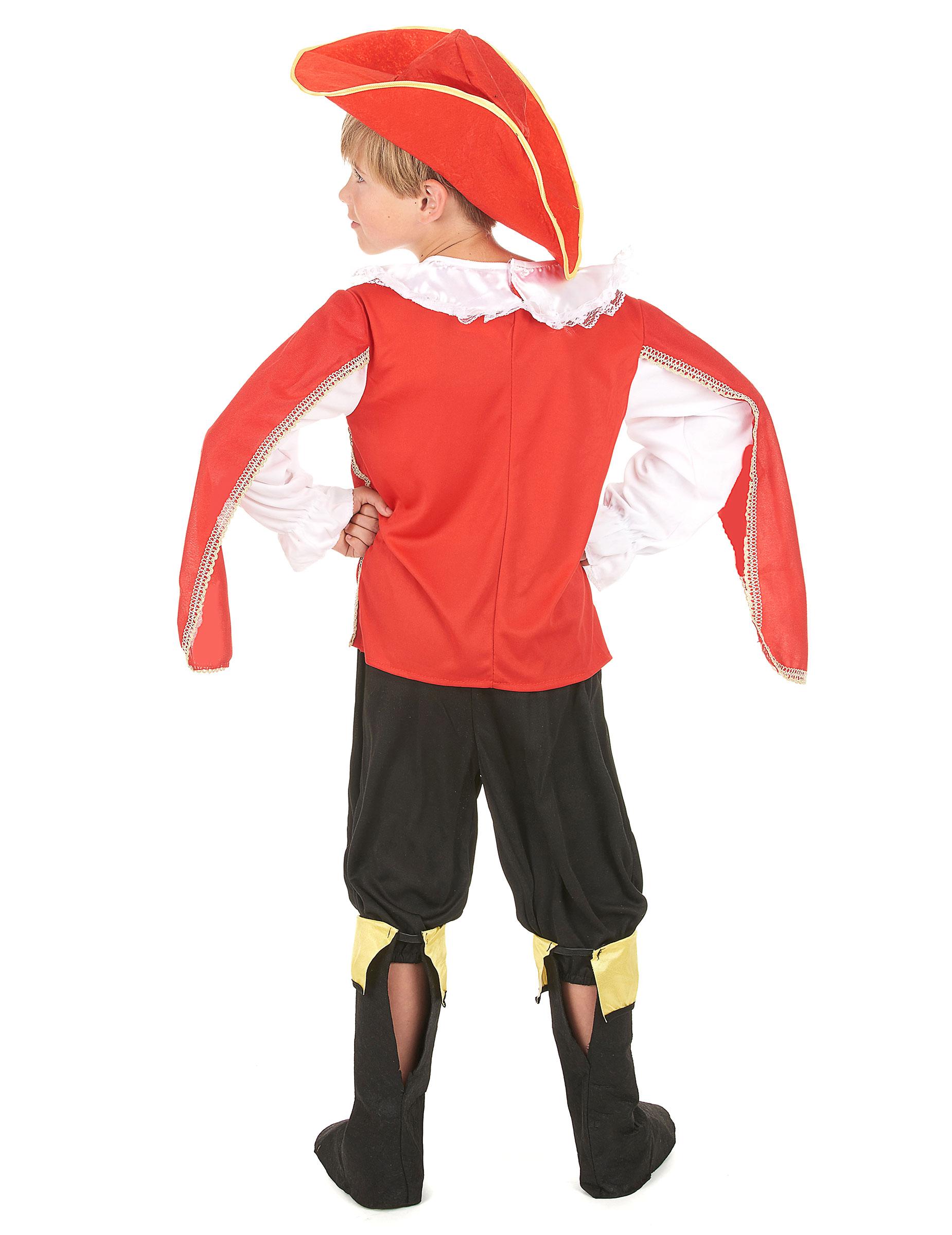 Costume Moschettiere rosso bambino  Costumi bambini ce71f84d43ee