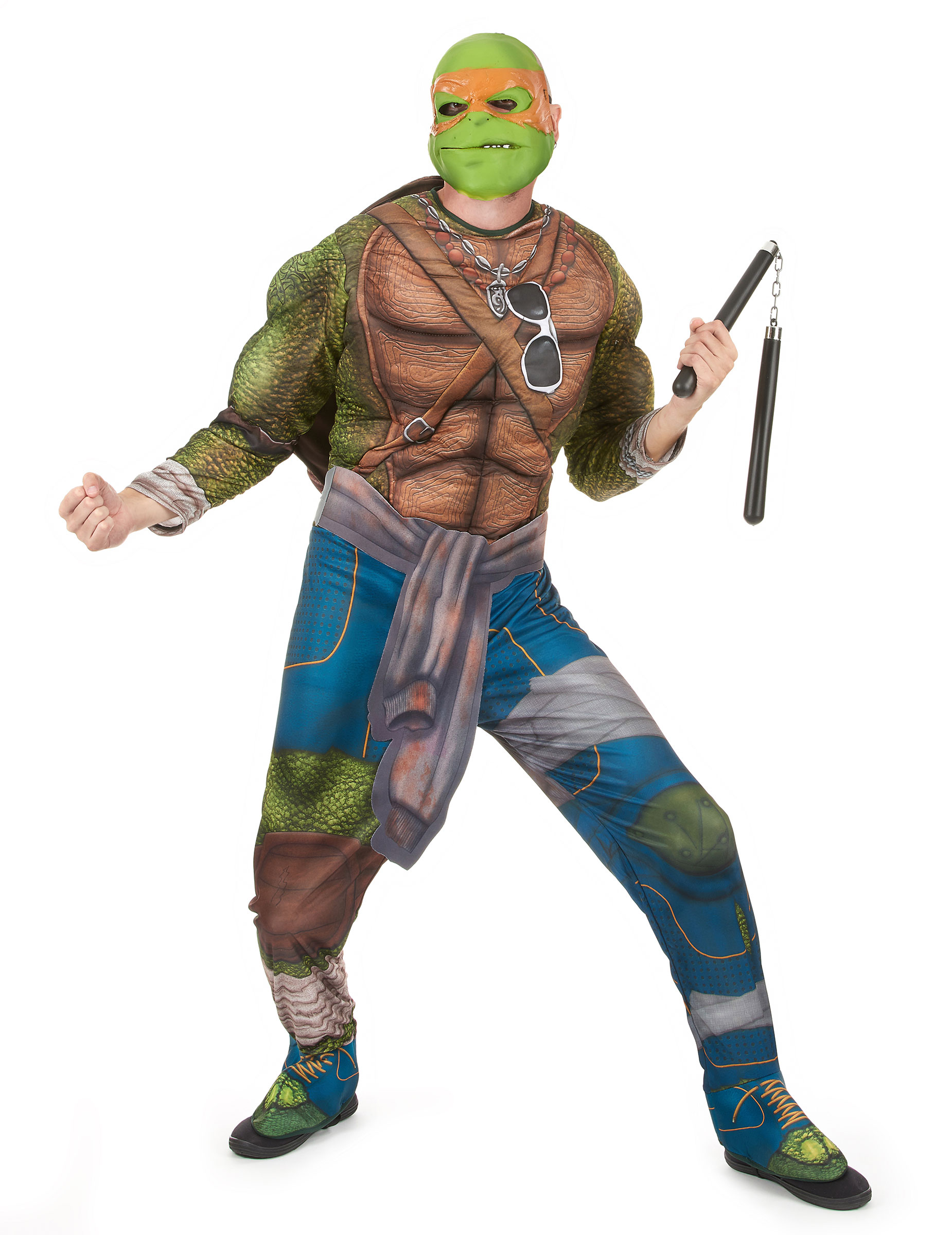 Costume Michelangelo Tartarughe Ninja Adulto Costumi Adultie