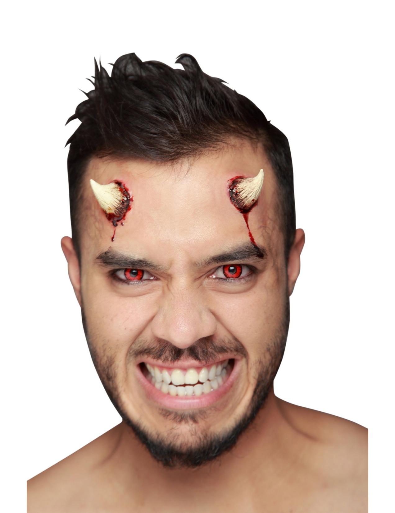 Trucco Halloween: finte corna da diavolo: Trucco,e vestiti ...