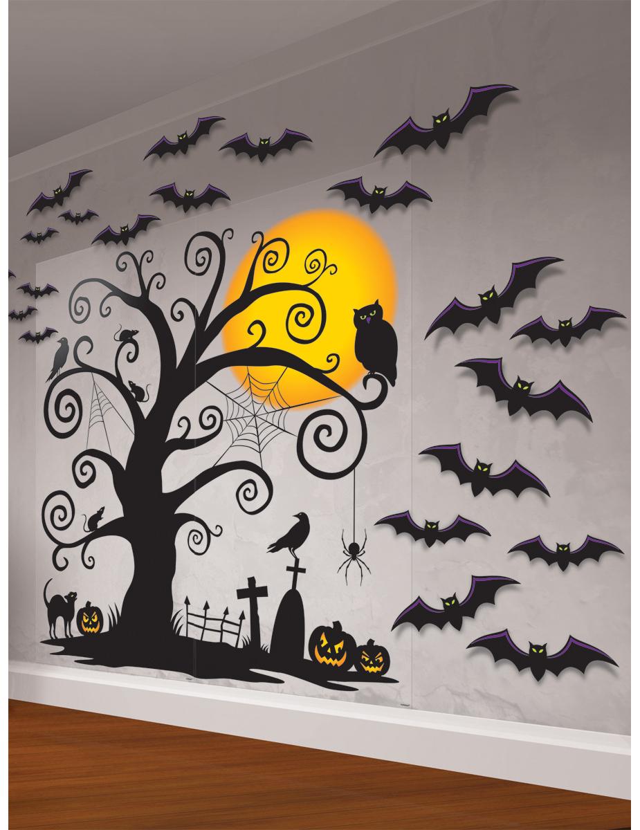 Kit decorazione murale cimitero halloween - Decorazione murale ...