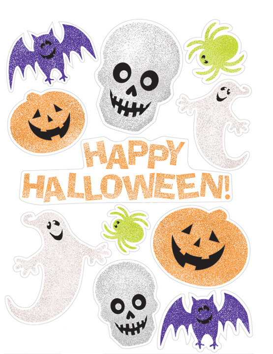 Decorazioni adesive halloween per finestra addobbi e for Decorazioni autoadesive